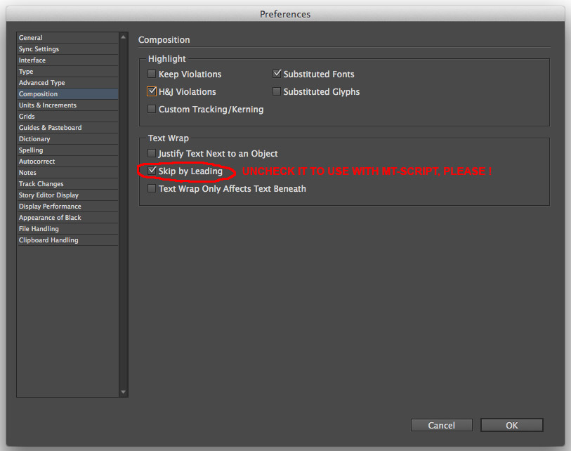 uncheck Skyp by Leading in InDesign preferences
